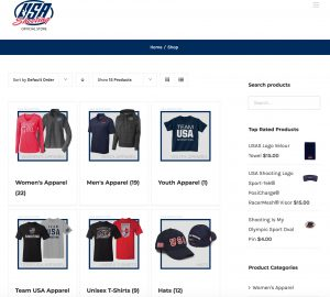 USA Shooting Store redesigned by Trost Marketing