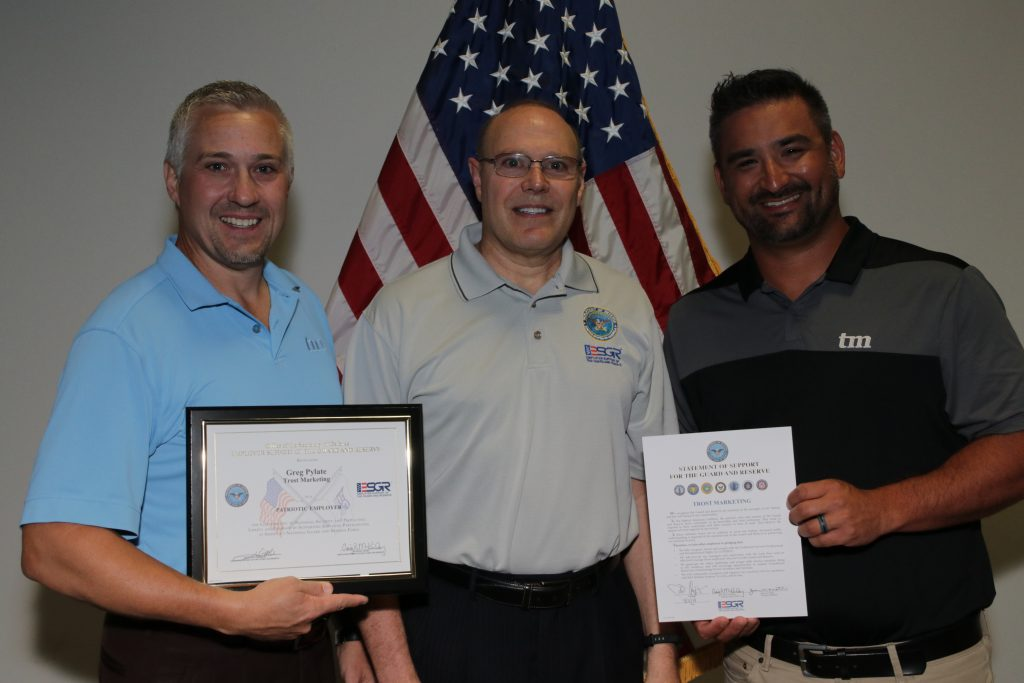 Patriot Award Presented To Trost Marketing