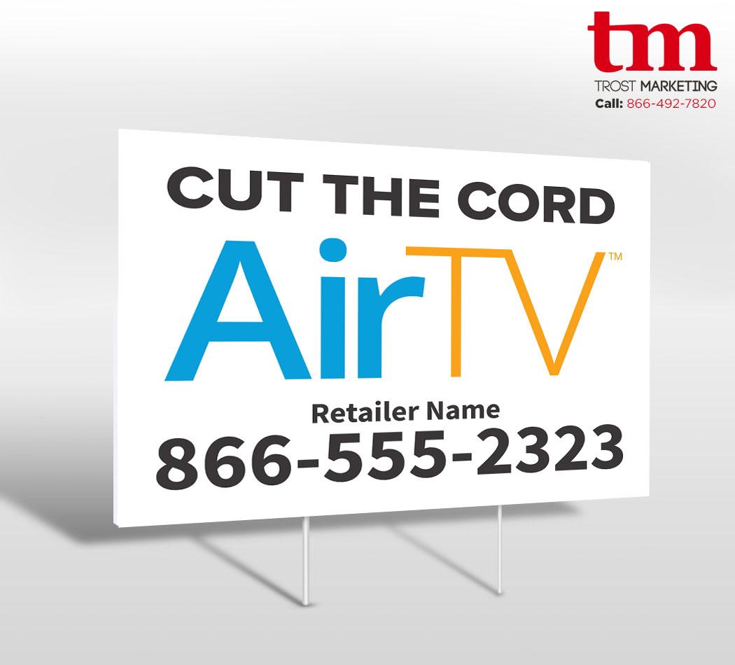 Cut the Cord Yard Sign DSH 51531